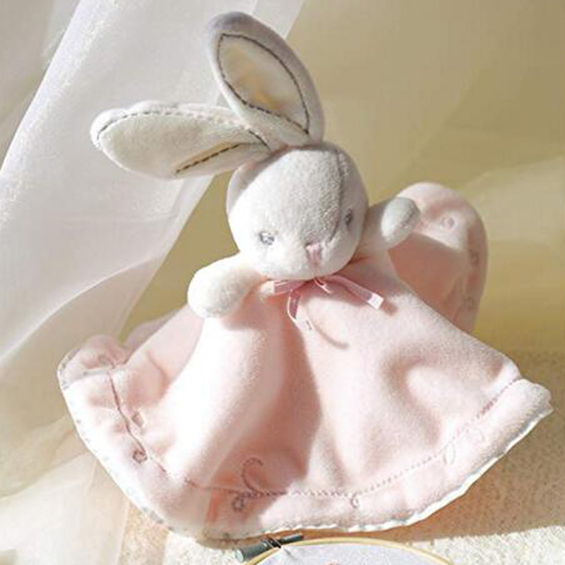 Rabbit Doll Plush Toys /Newborn Baby Bunny Soothing Towel / Soft Security Sleep Blanket