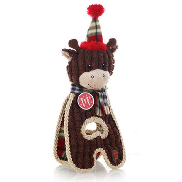 Plush dog toys for Christmas