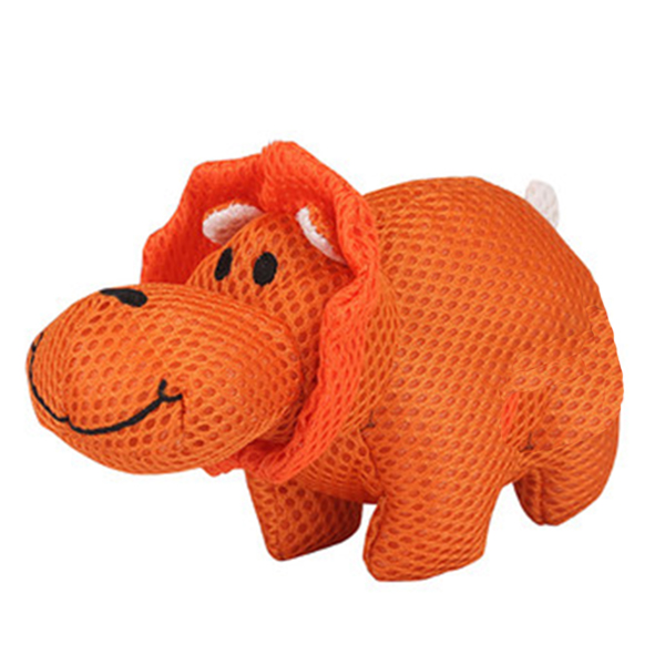 Plush dog toys with breathable fabric
