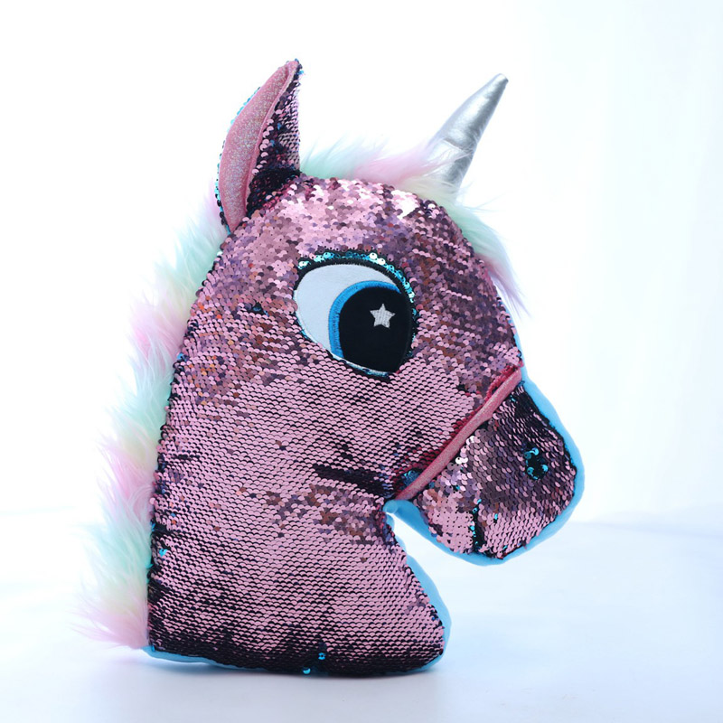 Reversible Flip Sequin Pillow/Unicorn/Cactuar/Owl