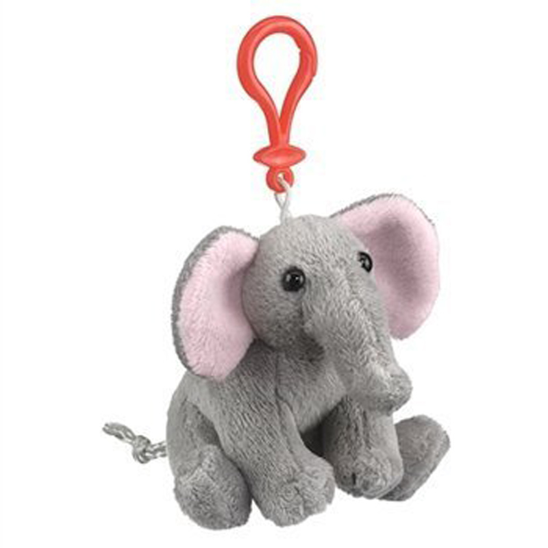 Plush animals keychain