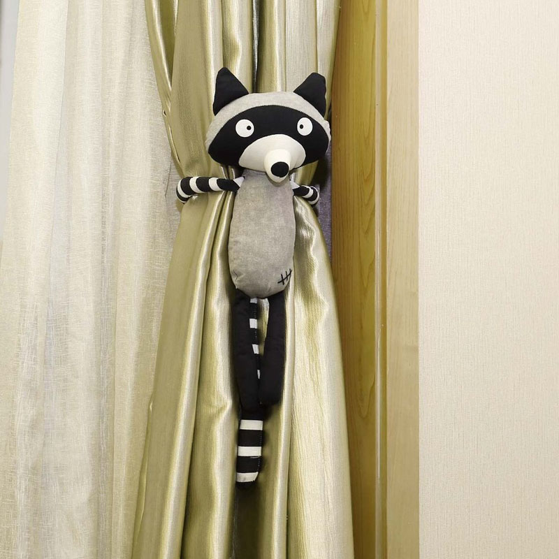Raccoon Curtain Tie-back