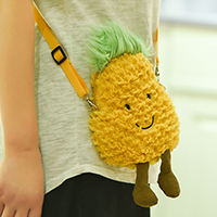 Plush fruits crossbody bag